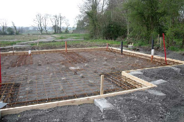 Raft foundation photos for Foundations for homes